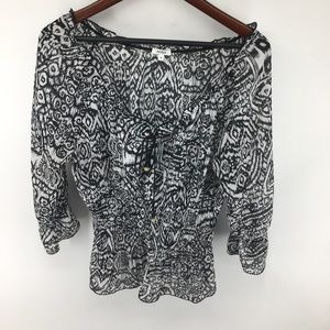 Nicola Peasant Top With Smocking NWOT
